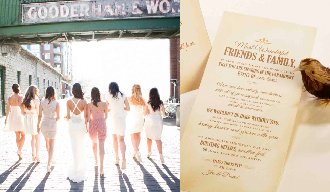 clever copy for your wedding invitations menus and programs carte