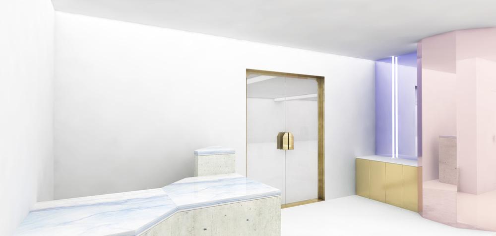 Céline store architecte study studio Henry mirror