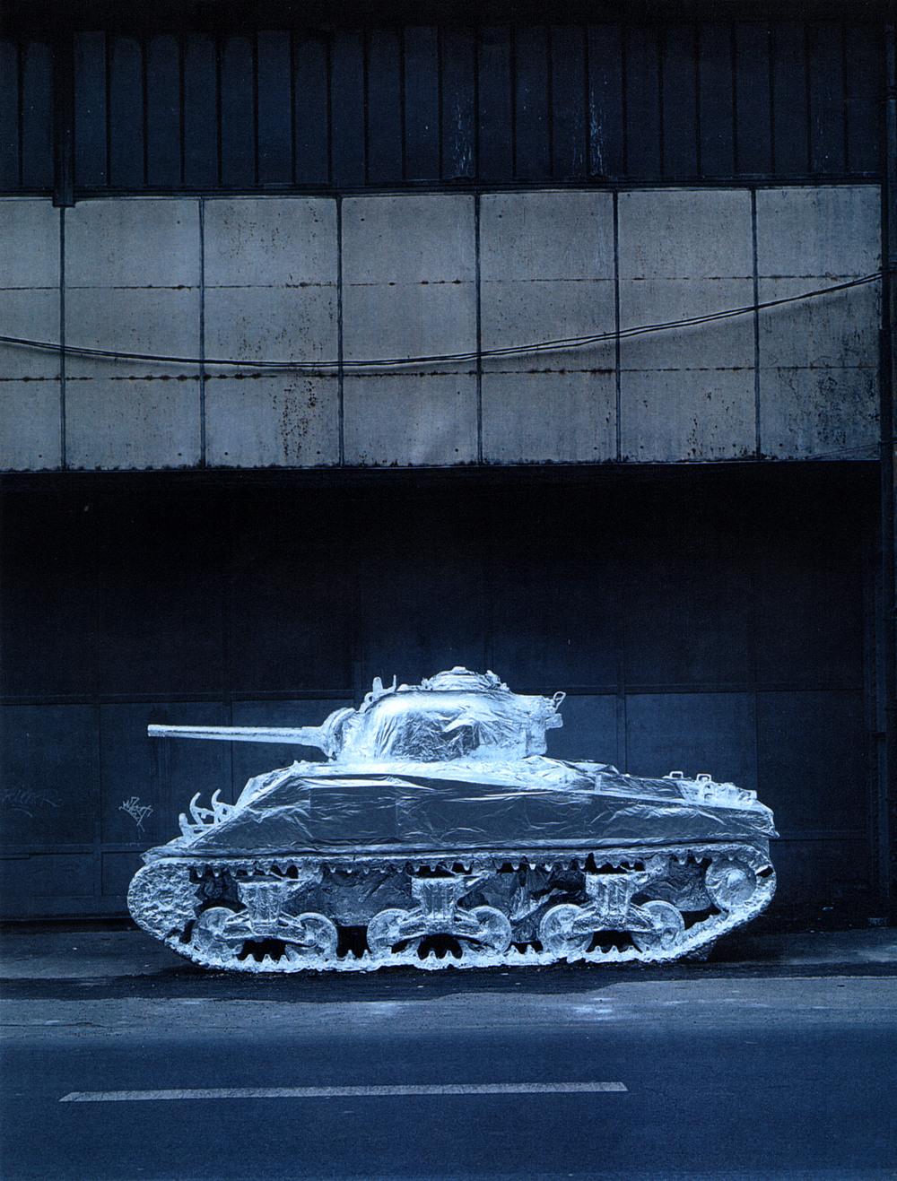 Silver tank