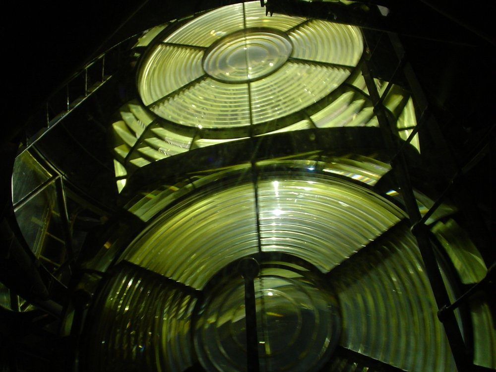 Fastnet Globes at night
