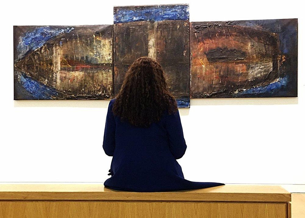 Mythical Wreck m/m on canvas 426x122cm 1997-2007 Luan Gallery Athlone Ireland 2015
