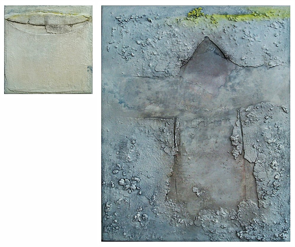 Glimpse III m/m on canvas 80x100cm&40x40cm 2011-12