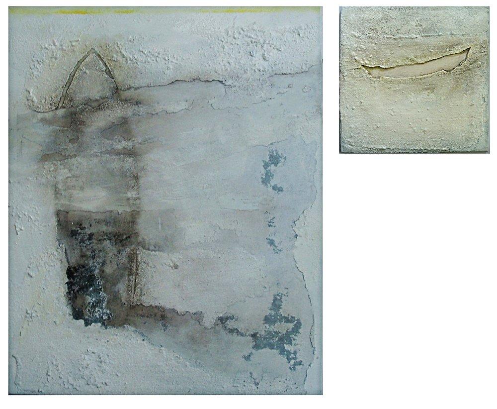 Glimpse I m/m on canvas 80x100cm&40x40cm 2011