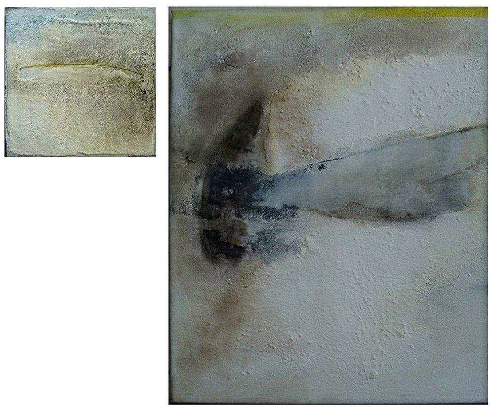 Glimpse IV m/m on canvas 80x100cm&40x40cm 2011