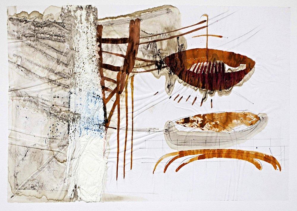 Study for Noah's Flotilla V m/m on paper 70x65cm 2013-14