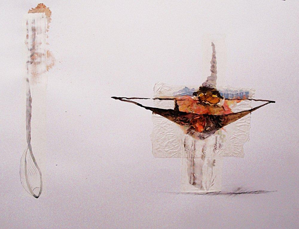 Vendetta series mixed media on Bristol board 50 x 65cm 2012-13