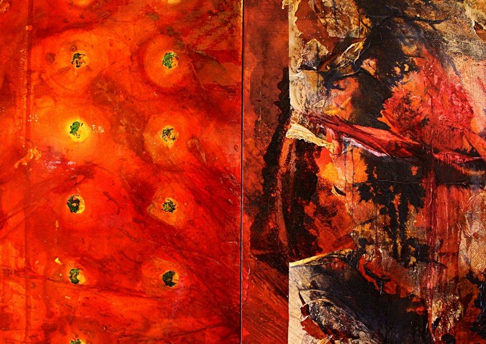 Requiem for Tiananmen m/m on canvas detail 1998-2002