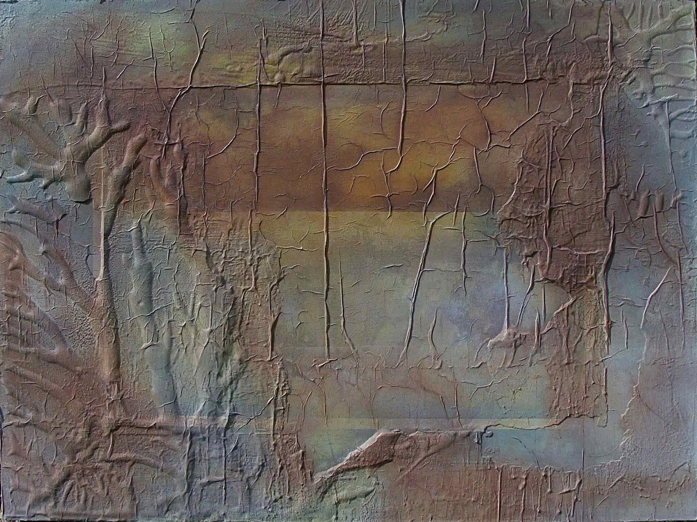 Desert Threnody III mixed media on board 91x121cm 2000-04