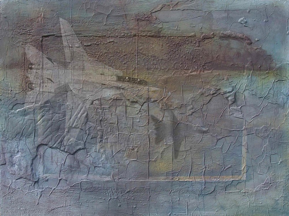 Desert Threnody IV mixed media on board 91x121cm 2000-04