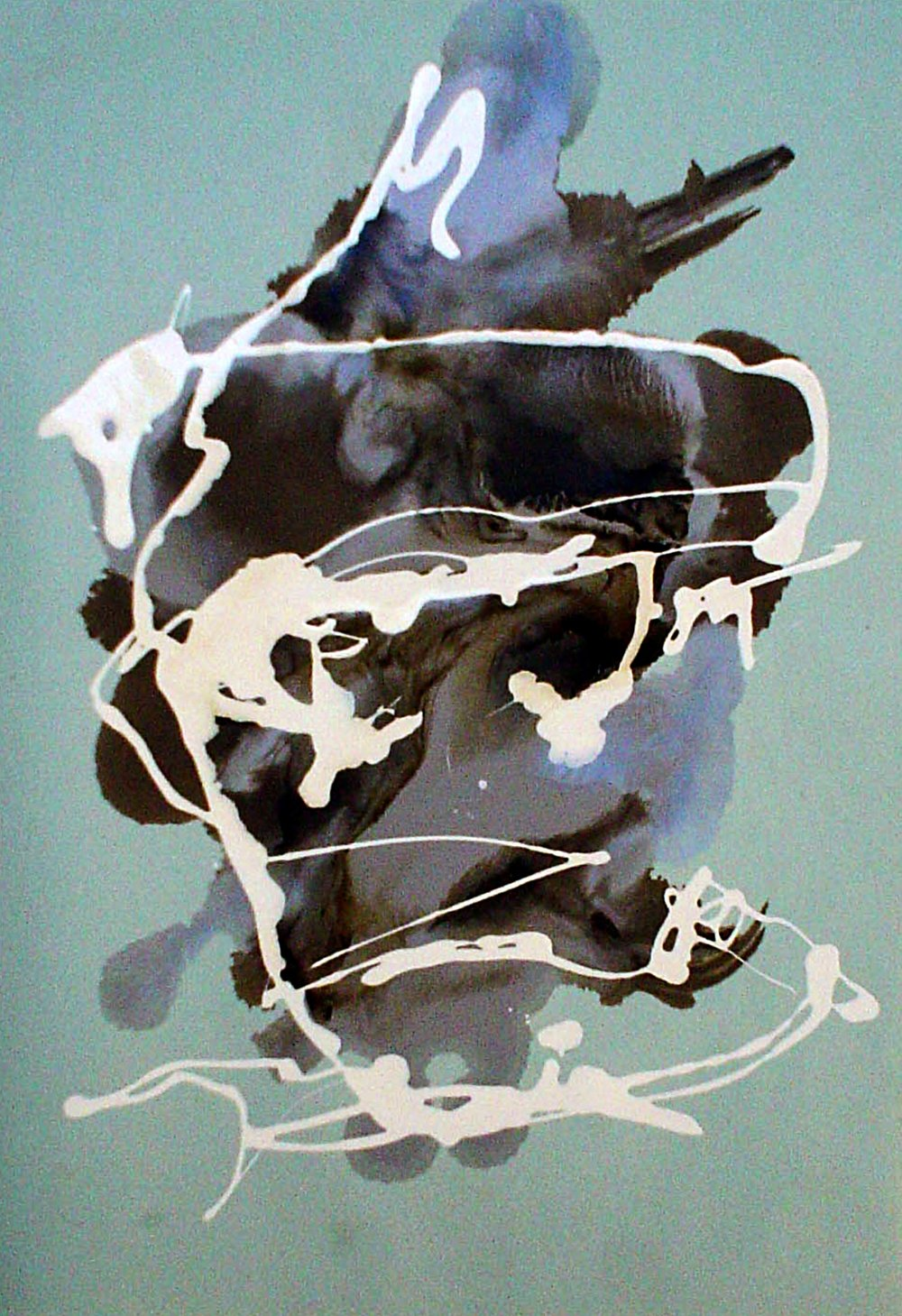 Soldier's head IV oil on paper 21 x 29cm  2003-2004