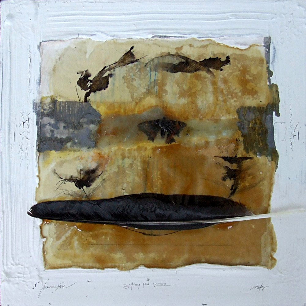 Small study for vessel m/m on board 30x30cm 2007