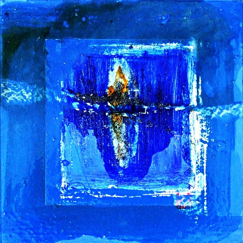 Vessel in blue m/m on paper 30x30cm 2007