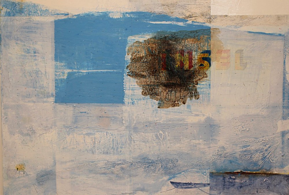 Insel (detail) mixed 50x140cm 2013/14