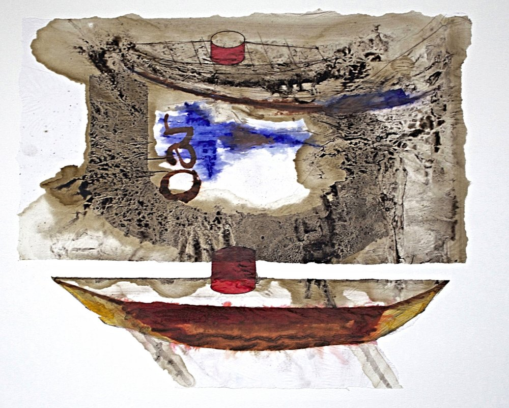 Study for Noah's Flotilla IV m/m on paper 70x65cm 2013-14