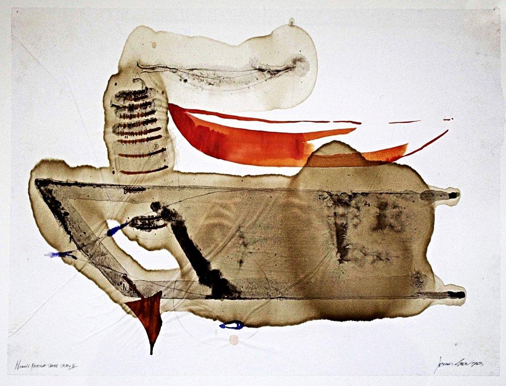 Study for Noah's Flotilla I m/m on paper 70x65cm 2013-14