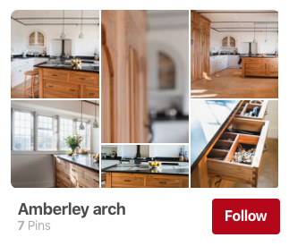 Example of a Pinterest board