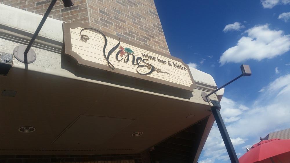 Vines Entrance Exterior Sign - Foam Board 2 x 6 Custom Painted.jpg