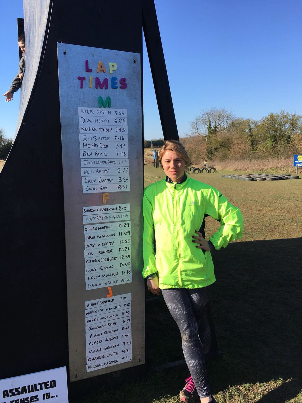 Hannah Bridge- 10th Fastest Female at The Playground Assault Course