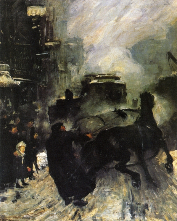 "George Bellows, ""Steaming Streets"" (1908)"