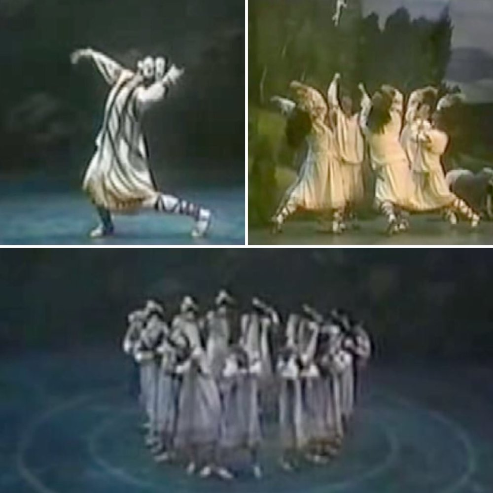 "Stills from the Joffrey Ballet Company's reconstruction of ""The Rite of Spring"" from 1987."