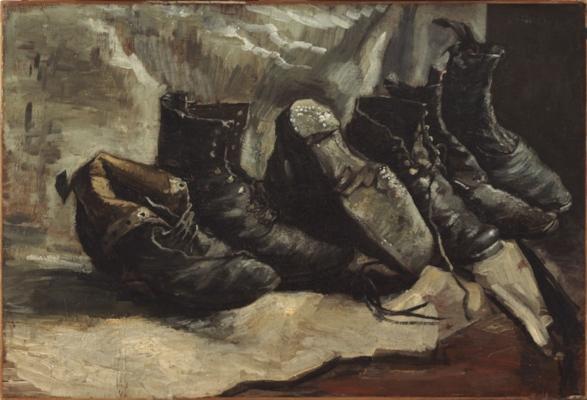 "Van Gogh, ""Three Pairs of Shoes"" (1886-1887)"