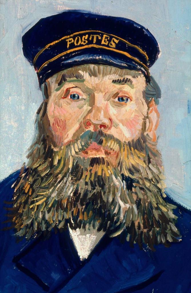 "Detail of Van Gogh, ""Postman Joseph Roulin"" (1888)"