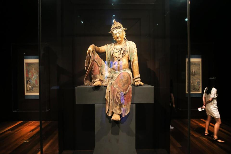 The Guanyin in situ at the MFA