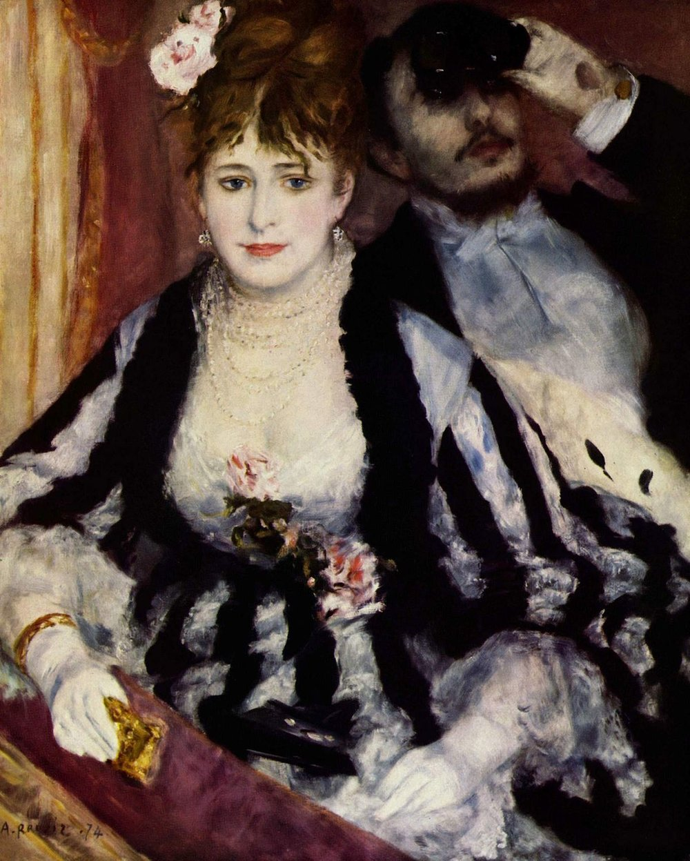 "Pierre-Auguste Renoir, ""La Loge"" (1874)"