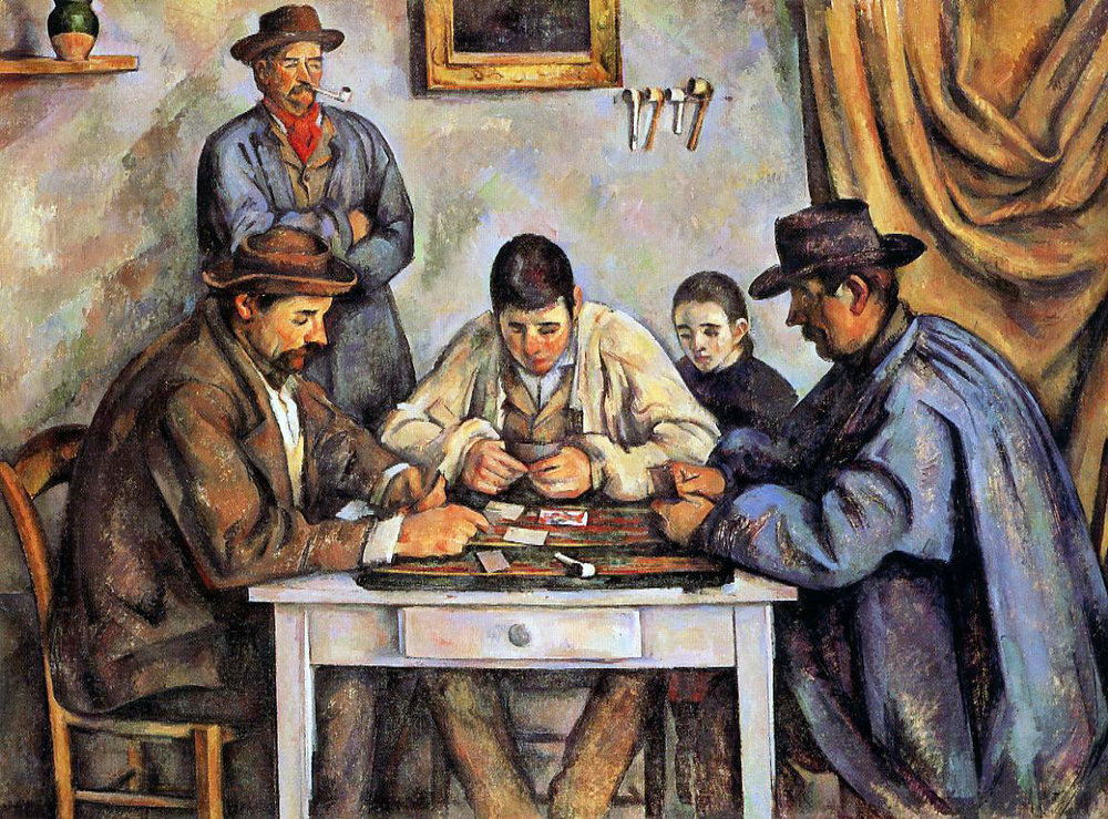 "Paul Cezanne, ""The Cardplayers"" (1892)"