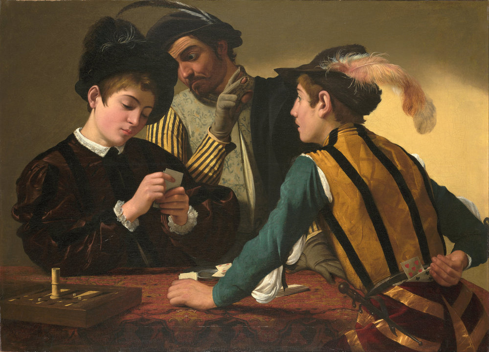 "Caravaggio, ""The Cardsharps"" (1594)"