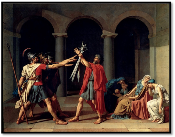 David,  Oath of the Horatii  (1784)