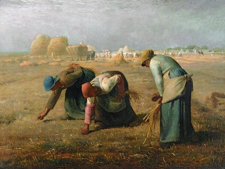 "Jean-François Millet, ""The Gleaners"" (1857)"