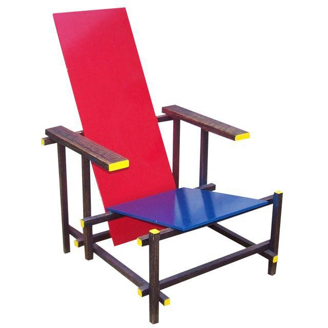"Gerrit Rietveld, ""Red and Blue Chair"" (1917)"