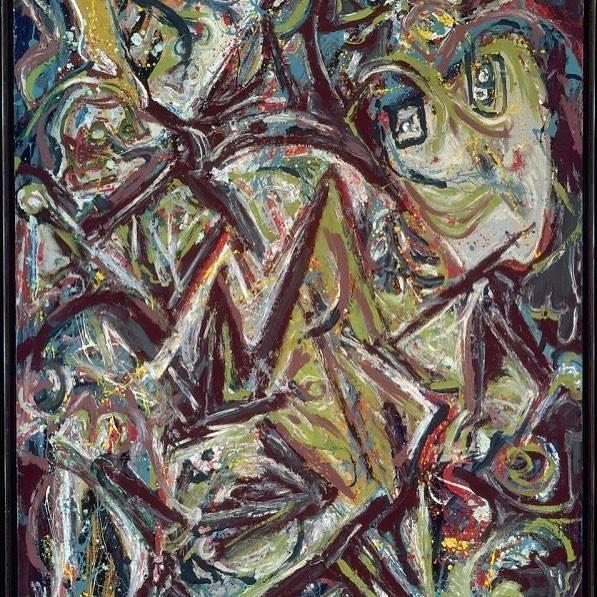 """Pollock, """"Troubled Queen"""" (1945)"""