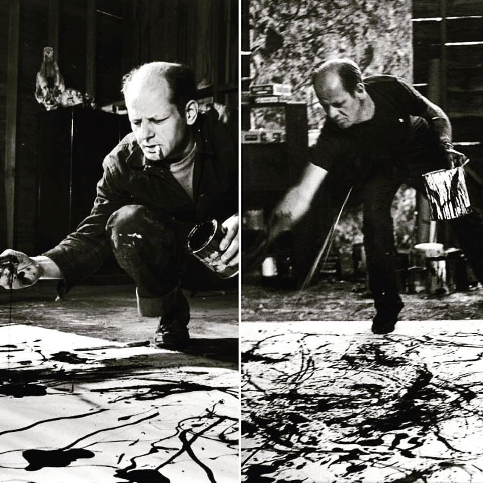 Pollock in action (literally!)