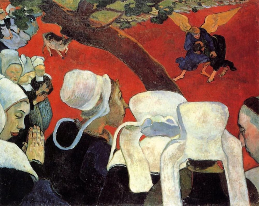"Gauguin, ""The Vision After the Sermon"" (1888)"