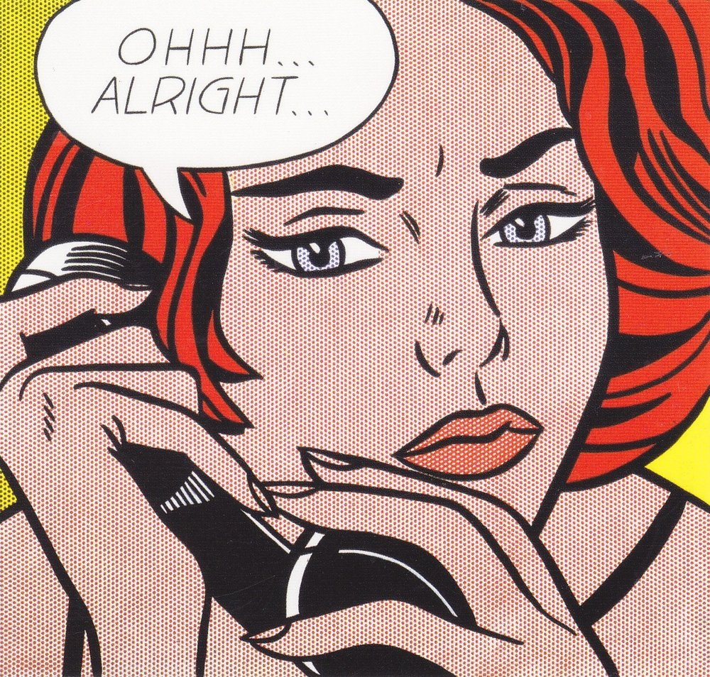 "Roy Lichtenstein, ""Ohhh... Alright..."" (1964)"
