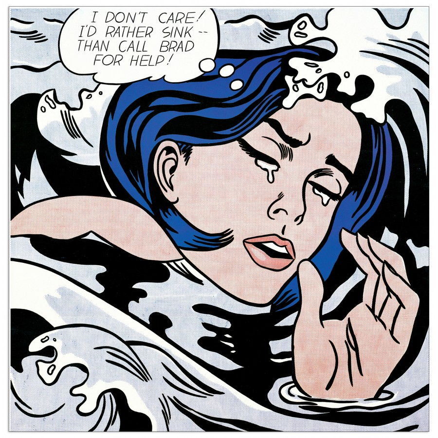 "Roy Lichtenstein, ""Drowning Girl"" (1963)"