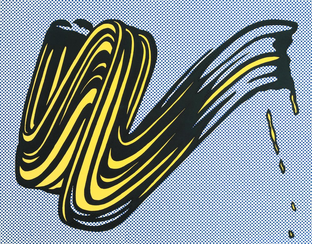 "Roy Lichtenstein,  ""Brushstroke"" (1965)"