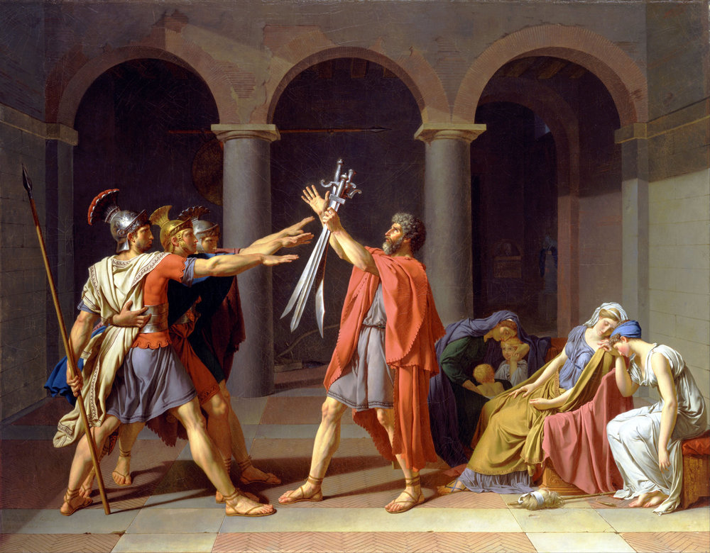 """Jacques-Louis David, """"Oath of the Horatii"""" (1784)"""