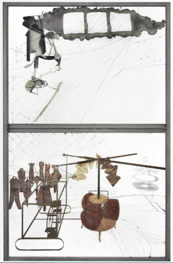 """Marcel Duchamp, """"The Large Glass (The Bride Stripped Bare by Her Bachelors, Even)"""" (1916-1923)"""