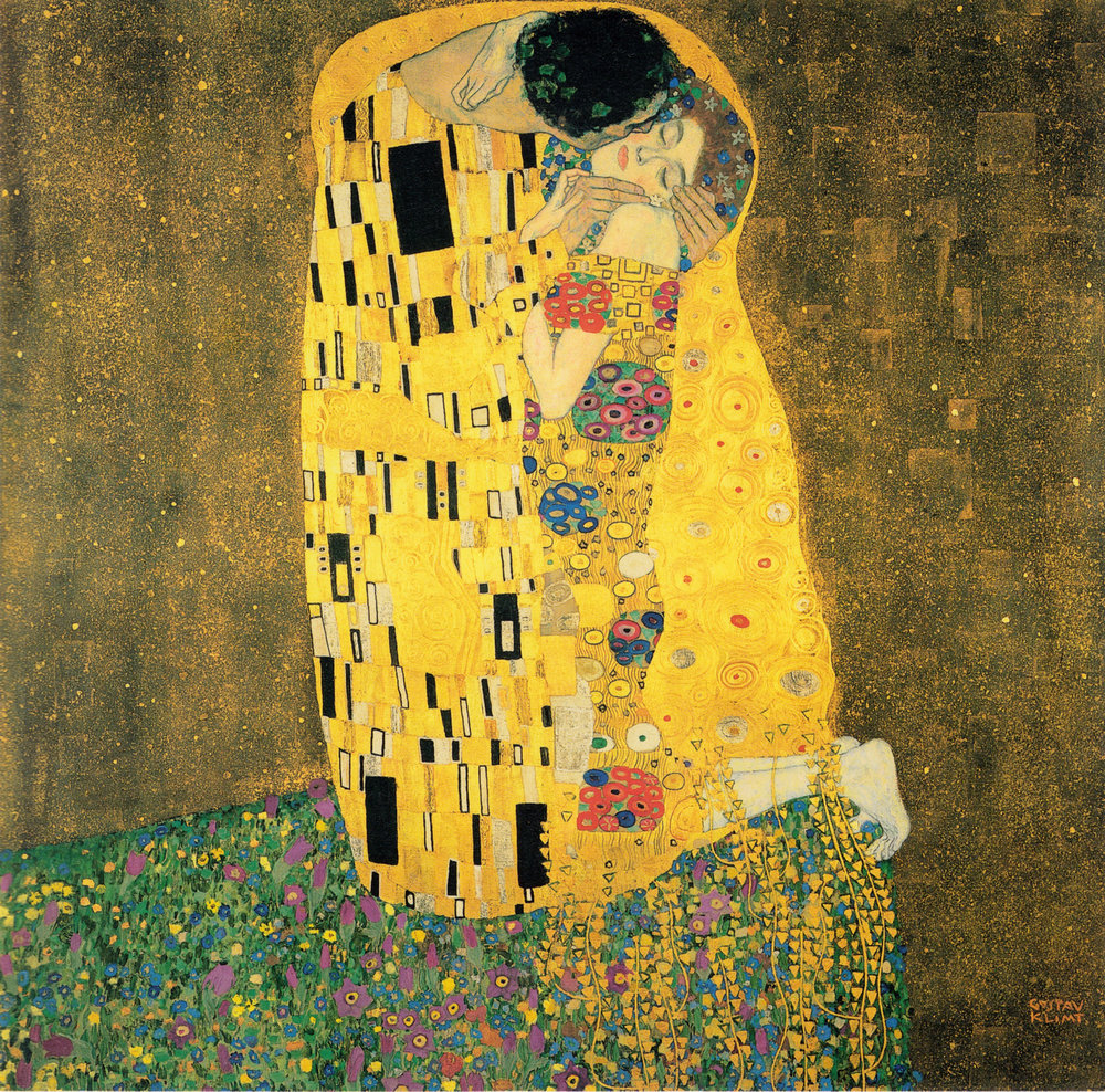 "Gustav Klimt, ""The Kiss"" (1907-08)"