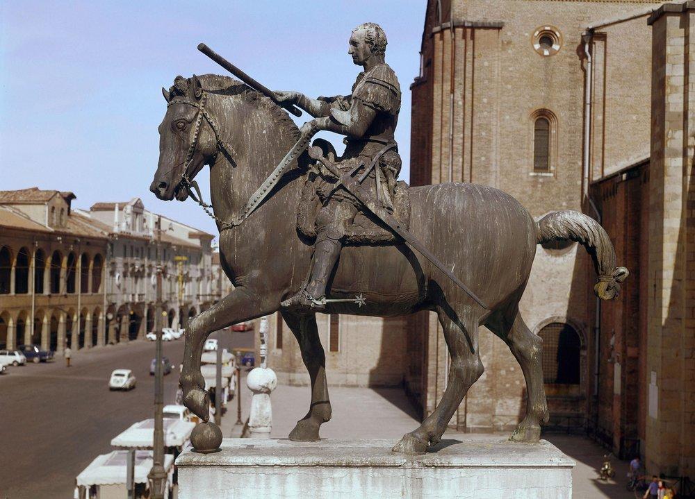"""Donatello, """"The Equestrian Statue of Gattamelata"""" (1453)"""
