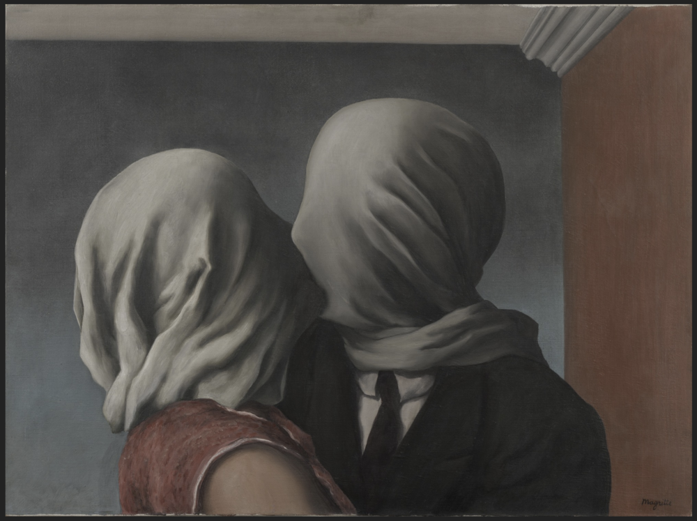 "René Magritte, ""The Lovers"" (1928)"