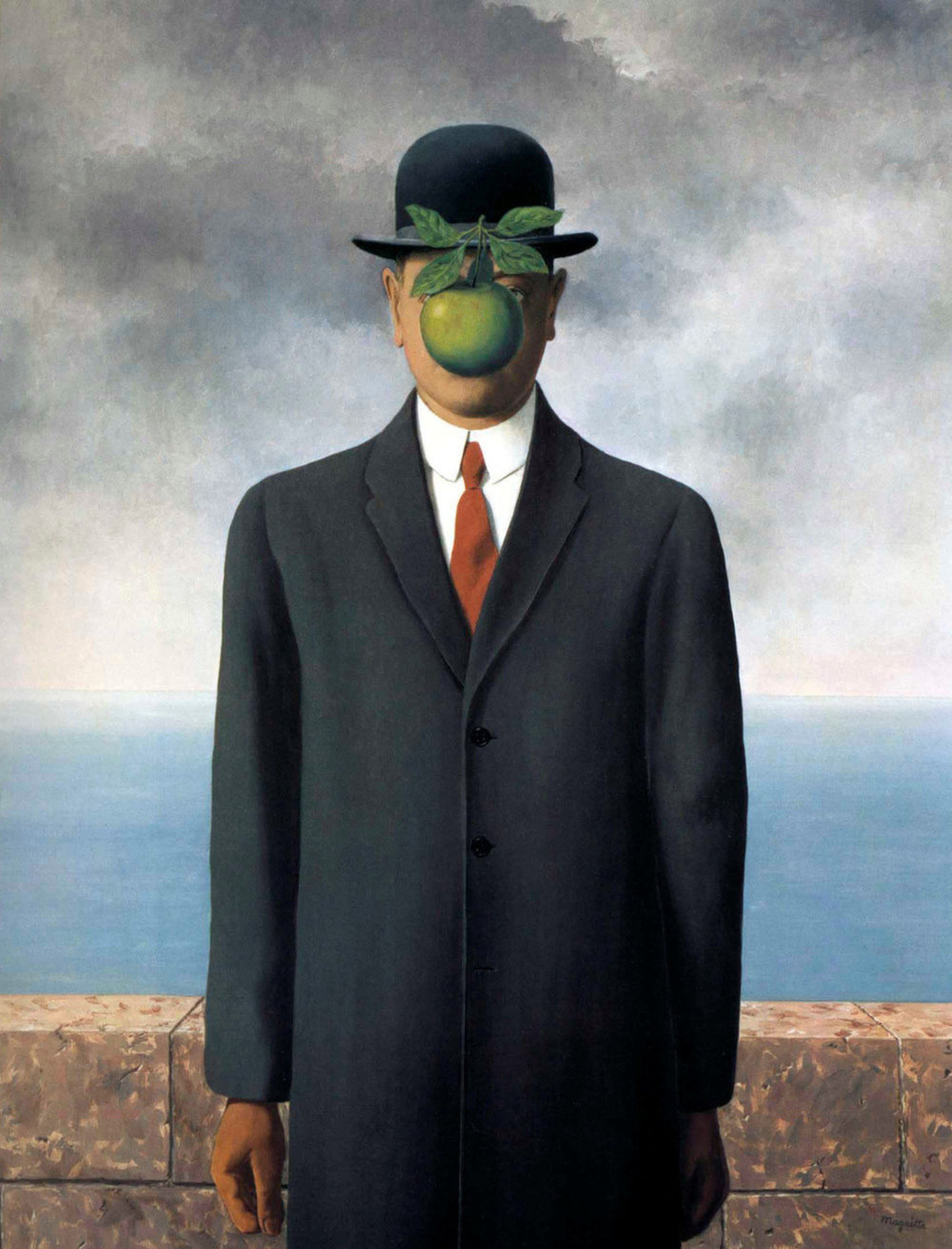 "René Magritte, ""The Son of Man"" (1964)"