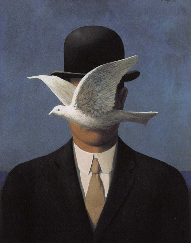 """René Magritte, """"Man in a Bowler Hat"""" (1964)"""