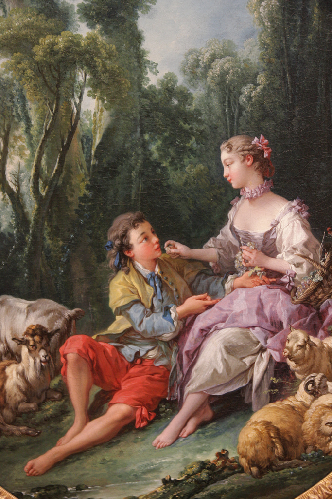 """François Boucher, """"Are They Thinking about the Grape?"""" (1747)"""