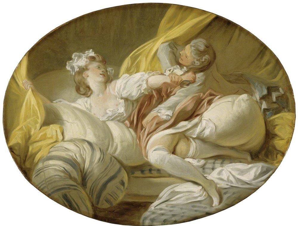 "Jean-Honoré Fragonard, ""The Feigned Resistance"" (1770-1773)"