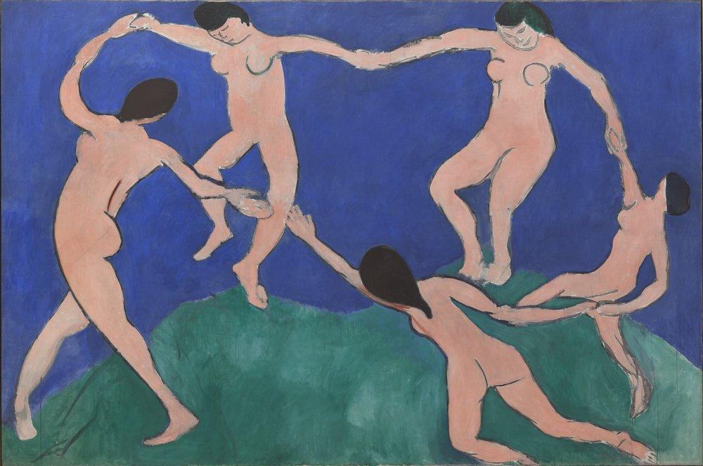 "Henri Matisse, ""The Dance (I)"" (1909"""