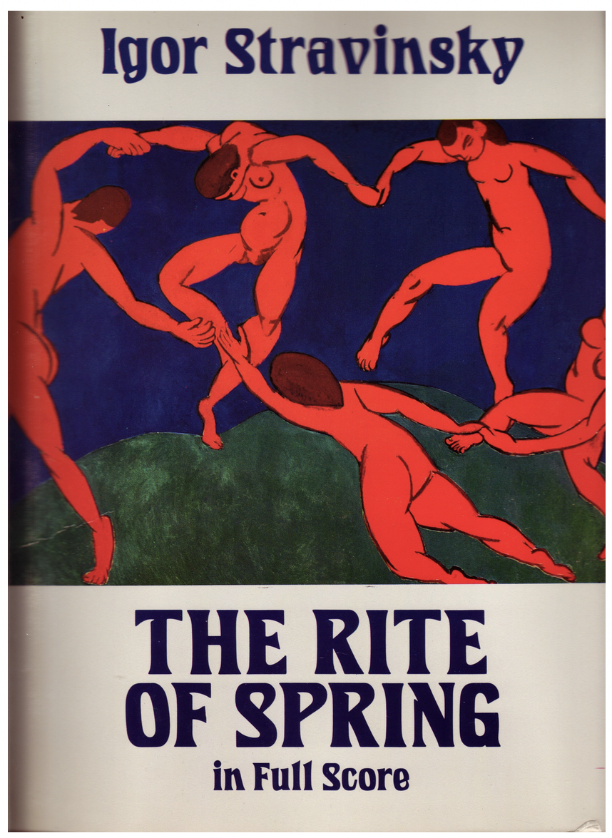 The cover of the full score of The Rite of Spring